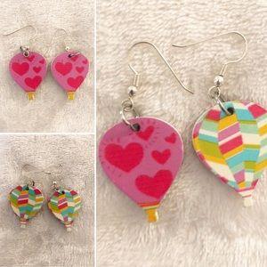 🐿5/$15 | Handmade | Hot air balloon earrings